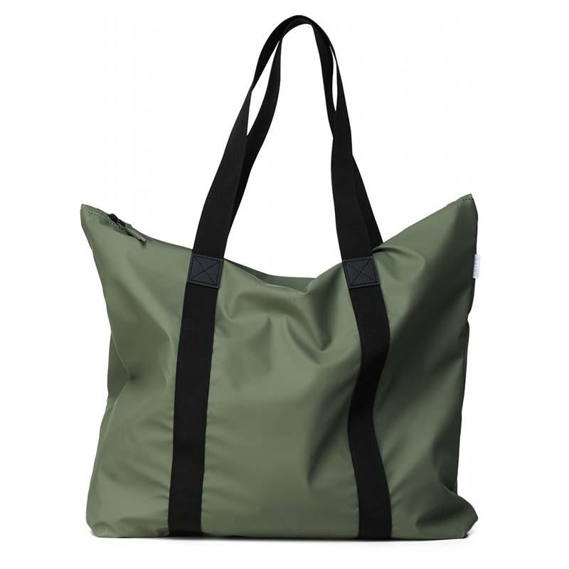 Rains Taske, Tote Bag, Olive Vandtæt shopper fra Rains