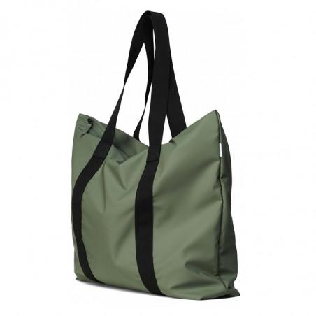 Rains Taske, Tote Bag, Olive Vandtæt shopper fra Rains side