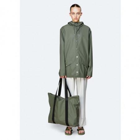 Rains Taske, Tote Bag, Olive Vandtæt shopper fra Rains look