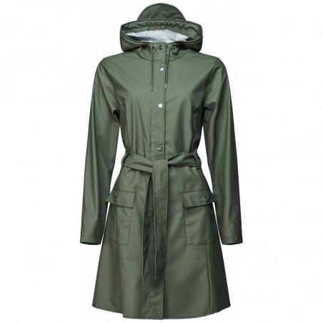 Rains Regnjakke, Curve, Olive - Rains Curve jacket - Rains regntøj til kvinder Rains Regnfrakke