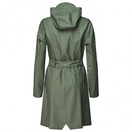 Rains Regnjakke, Curve, Olive - Rains Curve jacket - Rains regntøj til kvinder Rains Regnfrakke ryg