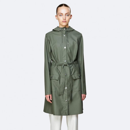 Rains Regnjakke, Curve, Olive - Rains Curve jacket - Rains regntøj til kvinder Rains Regnfrakke på model