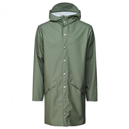 Rains Regnjakke dame, Lang, Olive rains long jacket rains jakke regnjakke unisex rains jacket