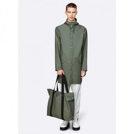Rains Regnjakke unisex, Lang, Olive rains long jacket rains jakke regnjakke unisex rains jacket på herremodel