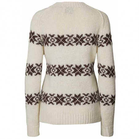 Lollys Laundry Strik, Tommy Jumper, Creme LollysLaundry sweater pullover ryg