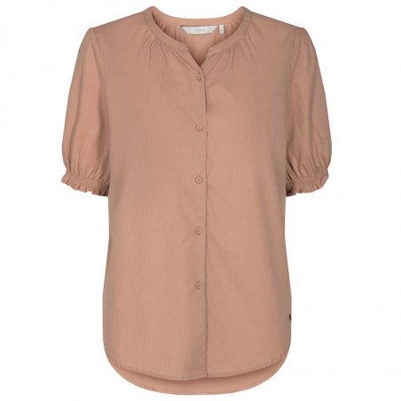 Nümph Bluse, Nuardith, Ash Rose Numph bluse med korte ærmer