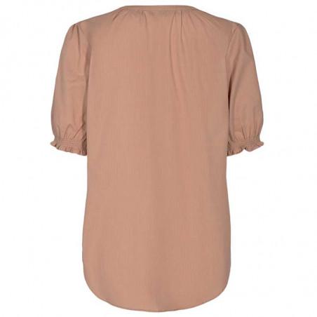 Nümph Bluse, Nuardith, Ash Rose Numph bluse med korte ærmer ryg