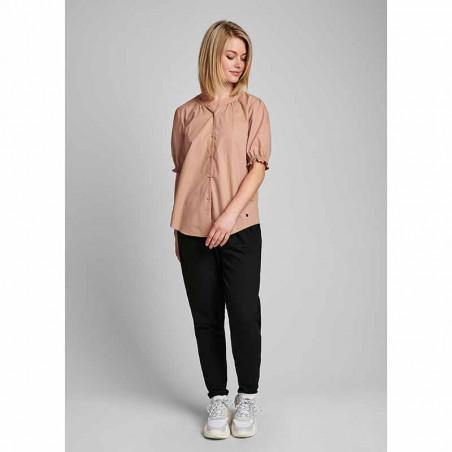 Nümph Bluse, Nuardith, Ash Rose Numph bluse med korte ærmer skjortebluse look