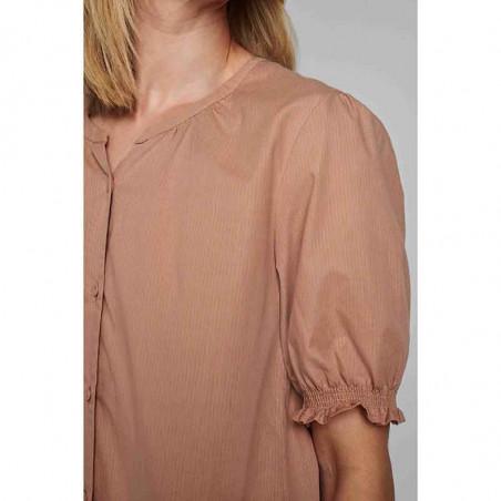 Nümph Bluse, Nuardith, Ash Rose Numph bluse med korte ærmer detalje