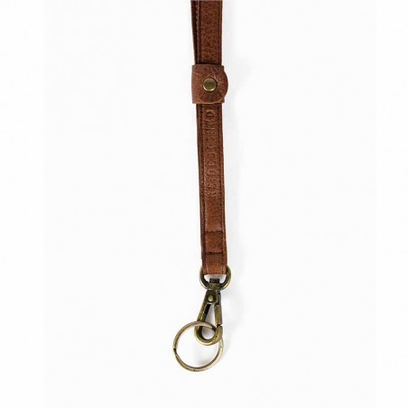 ReDesigned Nøglering, Luci Urban, Walnut, brun nøgelering, luci keyhanger, læderrem, nøglering fra redesigned