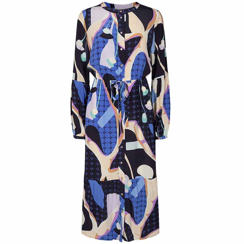 Nümph Kjole, Nucasey, Dark Sapphire Numph kjole i bæredygtig kvalitet