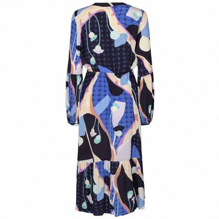 Nümph Kjole, Nucasey, Dark Sapphire Numph kjole i bæredygtig kvalitet ryg