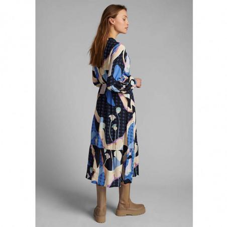 Nümph Kjole, Nucasey, Dark Sapphire Numph kjole i bæredygtig kvalitet set bagfra