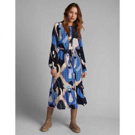 Nümph Kjole, Nucasey, Dark Sapphire Numph kjole i bæredygtig kvalitet look