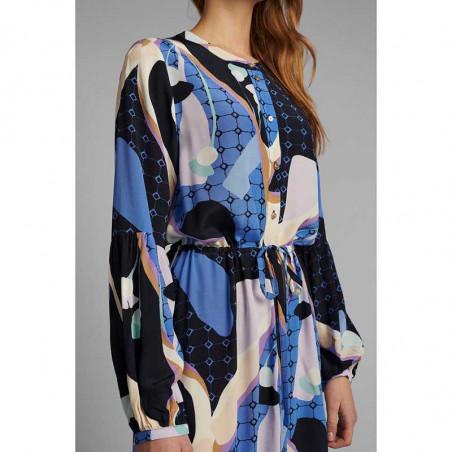 Nümph Kjole, Nucasey, Dark Sapphire Numph kjole i bæredygtig kvalitet detalje