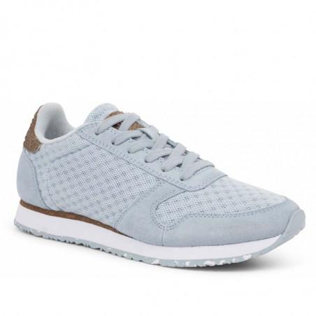 Woden Sneakers, Ydun Suede Mesh II, Ice Blue Woden mesh sneakers side