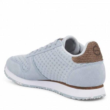 Woden Sneakers, Ydun Suede Mesh II, Ice Blue Woden mesh sneakers med fiskeskind