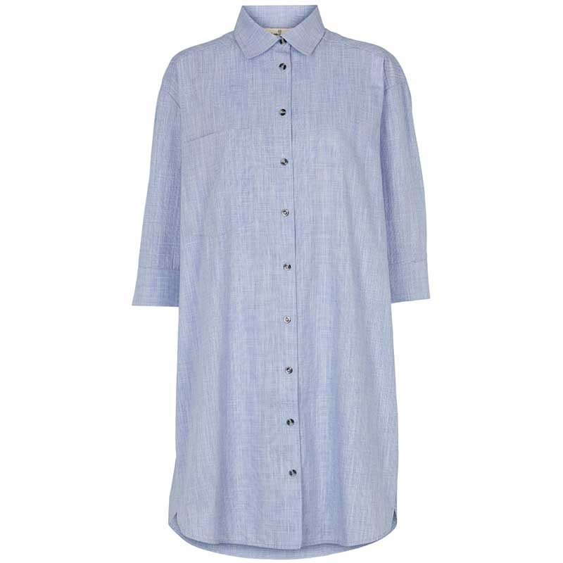 Basic Apparel Skjorte, Nora Shirt Harriet, Navy BasicApparel storskjorte - skjortekjole