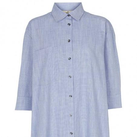 Basic Apparel Skjorte, Nora Shirt Harriet, Navy BasicApparel storskjorte - skjortekjole detalje