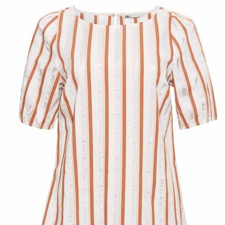 PBO Kjole, Pufti Dress, Rosa Stripe detalje