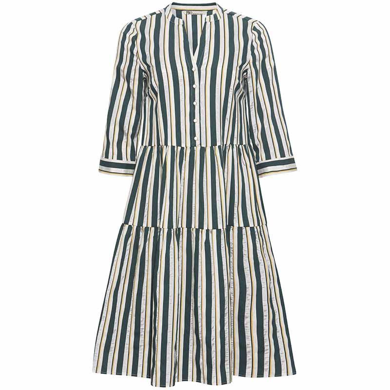 PBO Kjole, Kalotto Dress, Green Stripe PBO forhandler København