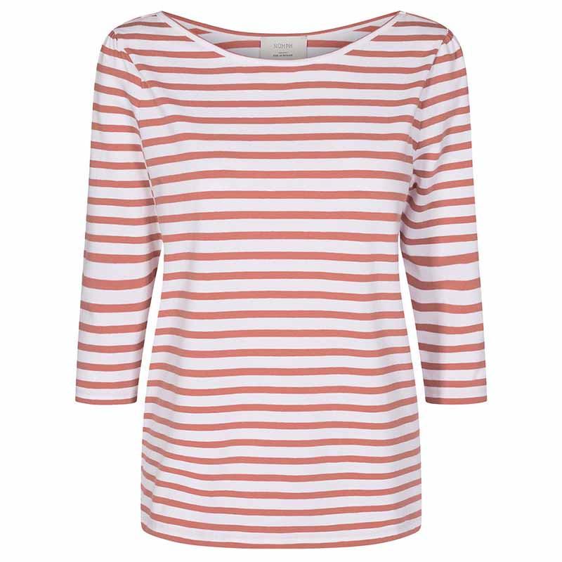 Nümph T-shirt, Nudaia, Ash Rose Numph stribet t-shirt numph bluse