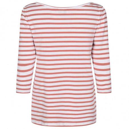 Nümph T-shirt, Nudaia, Ash Rose Numph stribet t-shirt numph bluse ryg