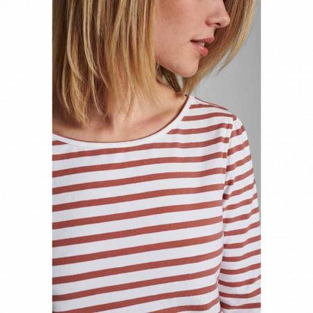 Nümph T-shirt, Nudaia, Ash Rose Numph stribet t-shirt numph bluse detalje
