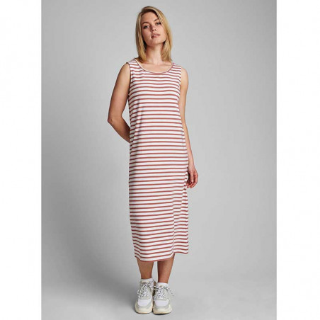 Nümph Kjole, Nudaia, Ash Rose Numph kjole  jersey kjole med striber på model