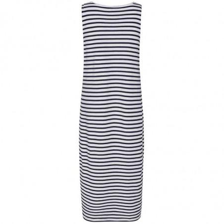 Nümph Kjole, Nudaia, Dark Sapphire Numph jersey kjole med striber  Kjole i økologisk bomuld ryg