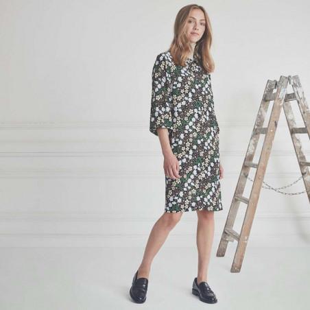 Modström Kjole, Harlow Print Dress, Blossom Field modstrom skjortekjole look