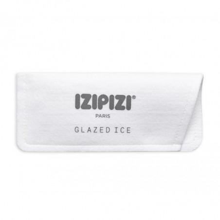 Izipizi Solbriller, D Sun, Frosted Blue izipizi briller Design briller med filt etui