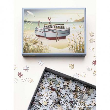 Vissevasse Puslespil 1000 brk, Fishing Boats Vissevasse puzzle Fiskebåde 1000 brikker i æske