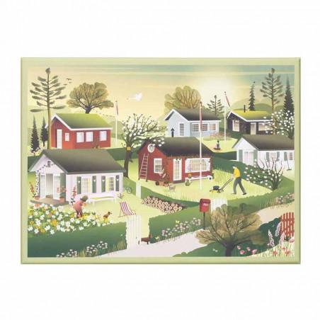 Vissevasse Puslespil 1000 brk, Small Houses Vissevasse puzzle 1000 pc