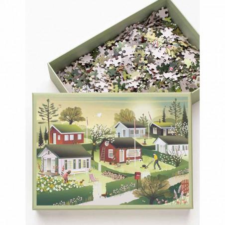 Vissevasse Puslespil 1000 brk, Small Houses Vissevasse puzzle 1000 pc  i æske