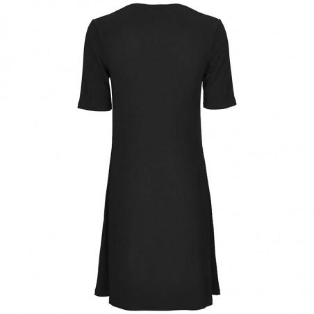 Modström Kjole, Chica, Black, sommerkjole, sort kjole - Bagside
