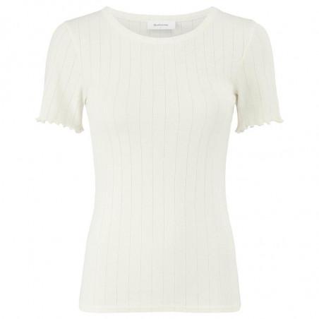 Modström T-shirt, Issy, Off White, Basic T-shirt