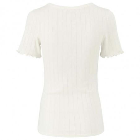 Modström T-shirt, Issy, Off White, Basic T-shirt - Bagside