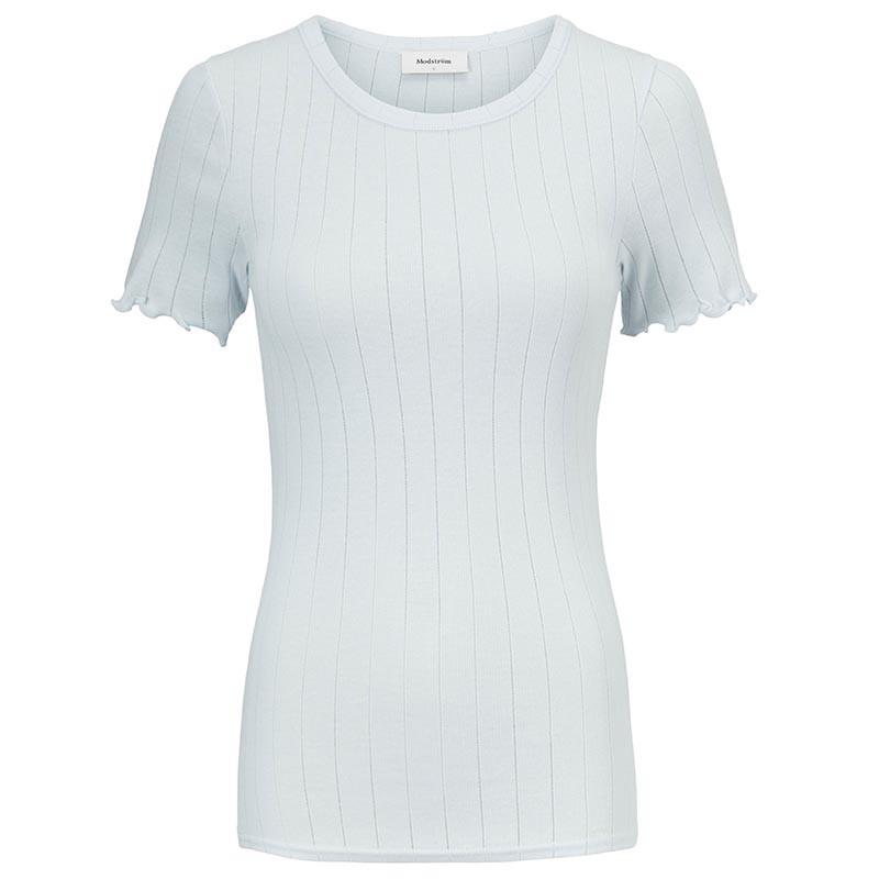 Modström T-shirt, Issy, Plain Air, Basic T-shirt, T-shirt i bomuld
