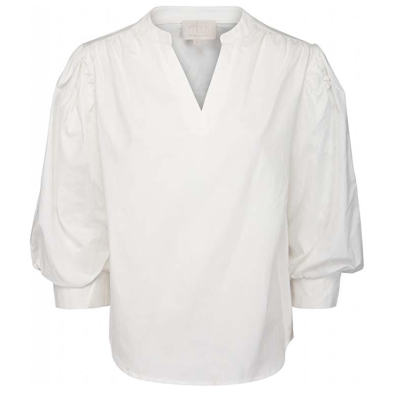 Minus Bluse, Kira, Cloud Dancer Minus tøj til kvinder. Minus bluse i økologisk bomuld