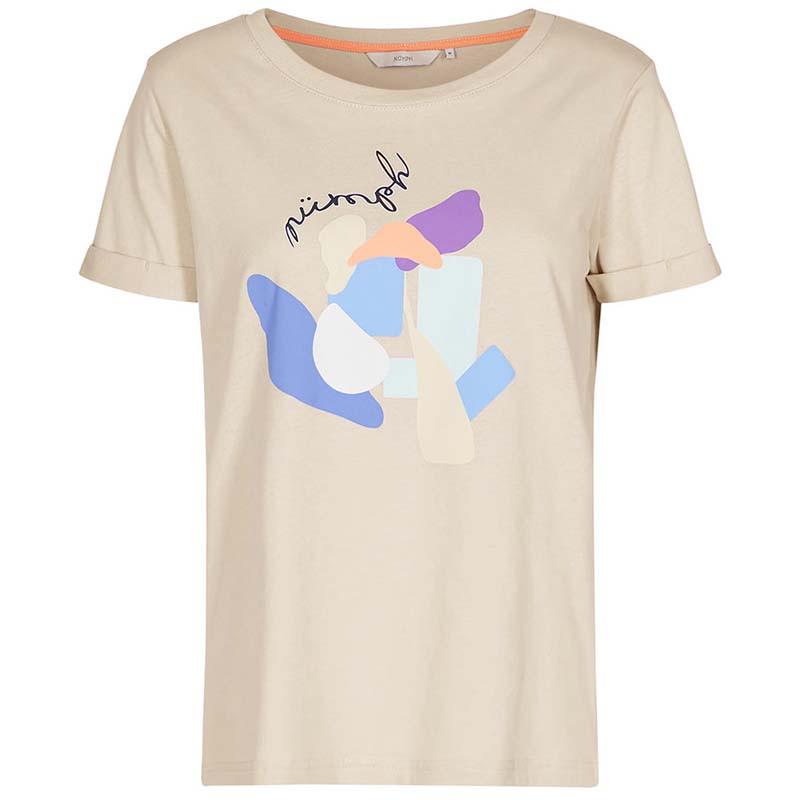 Nümph T-shirt, Nucizzy, Brazillian Sand, Numph tøj, Nümph toppe, Økologisk bomuld