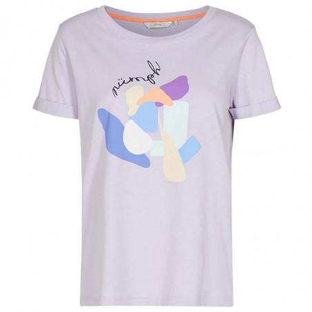 Nümph T-shirt, Nucizzy, Orchid Petal, Numph tøj, Nümph toppe, Økologisk bomuld. T-shirt i økologisk bomuld
