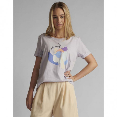 Nümph T-shirt, Nucizzy, Orchid Petal, Numph tøj, Nümph toppe, Økologisk bomuld. T-shirt i økologisk bomuld - Model