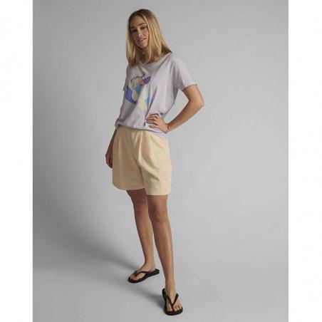Nümph T-shirt, Nucizzy, Orchid Petal, Numph tøj, Nümph toppe, Økologisk bomuld. T-shirt i økologisk bomuld - Fuld figur