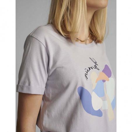 Nümph T-shirt, Nucizzy, Orchid Petal, Numph tøj, Nümph toppe, Økologisk bomuld. T-shirt i økologisk bomuld - Fra siden