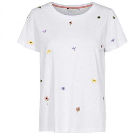 Nümph T-shirt, Nucarol, Bright White, Numph tøj, Nümph toppe, Økologisk bomuld. T-shirt i økologisk bomuld