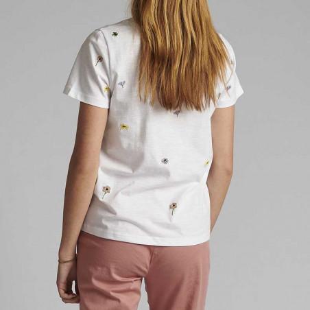 Nümph T-shirt, Nucarol, Bright White, Numph tøj, Nümph toppe, Økologisk bomuld. T-shirt i økologisk bomuld Bagside