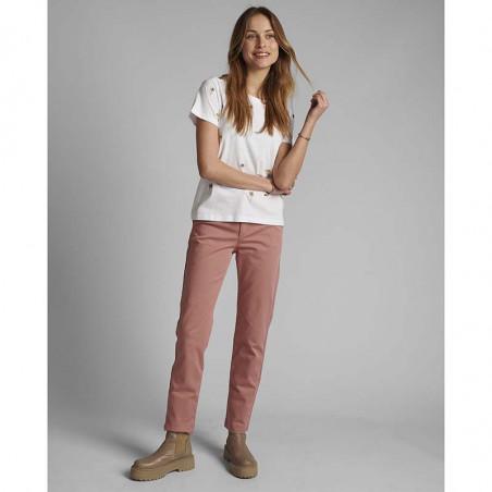 Nümph T-shirt, Nucarol, Bright White, Numph tøj, Nümph toppe, Økologisk bomuld. T-shirt i økologisk bomuld - Bomuld