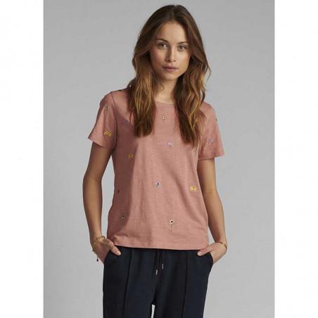 Nümph T-shirt, Nucarol, Ash Rose, Numph tøj, Nümph toppe, Økologisk bomuld. T-shirt i økologisk bomuld - Front