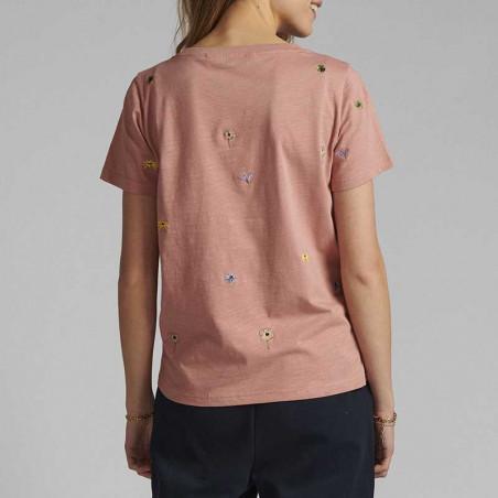 Nümph T-shirt, Nucarol, Ash Rose, Numph tøj, Nümph toppe, Økologisk bomuld. T-shirt i økologisk bomuld - Bagside